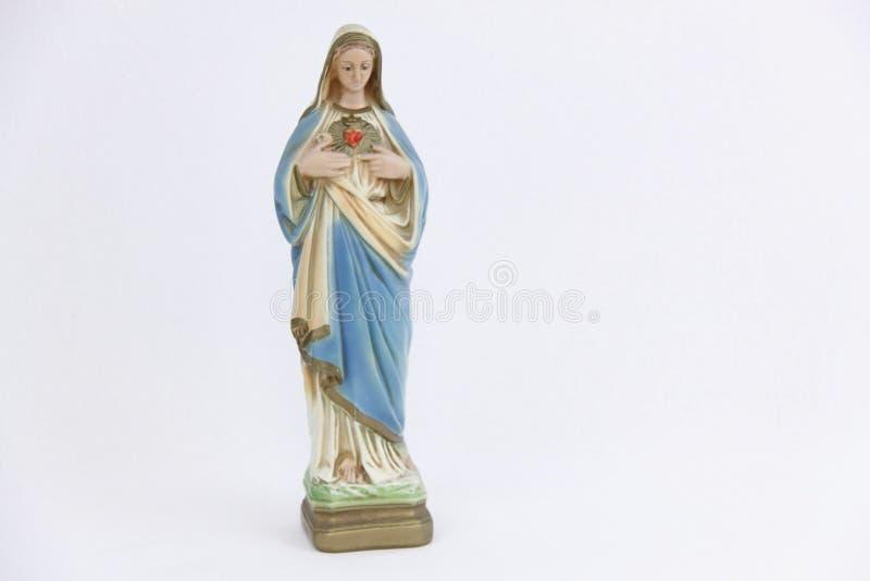 Standbeeld van maagdelijke Mary stock afbeelding