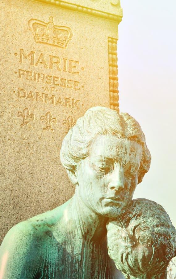 Standbeeld van Marie-prinses van Denemarken in Kopenhagen stock fotografie