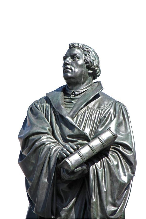 Standbeeld van Martin Luther in Dresden stock fotografie