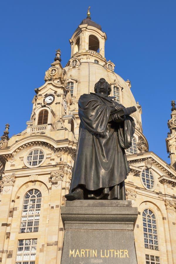 Standbeeld van Martin Luther in Dresden royalty-vrije stock fotografie