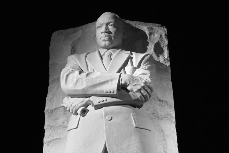 Standbeeld van Martin Luther King in Washington D C stock foto's