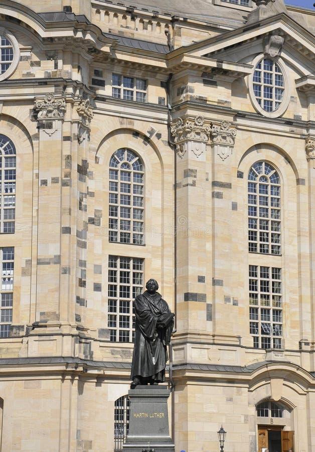 Standbeeld van Martin Luther van Dresden in Duitsland royalty-vrije stock foto