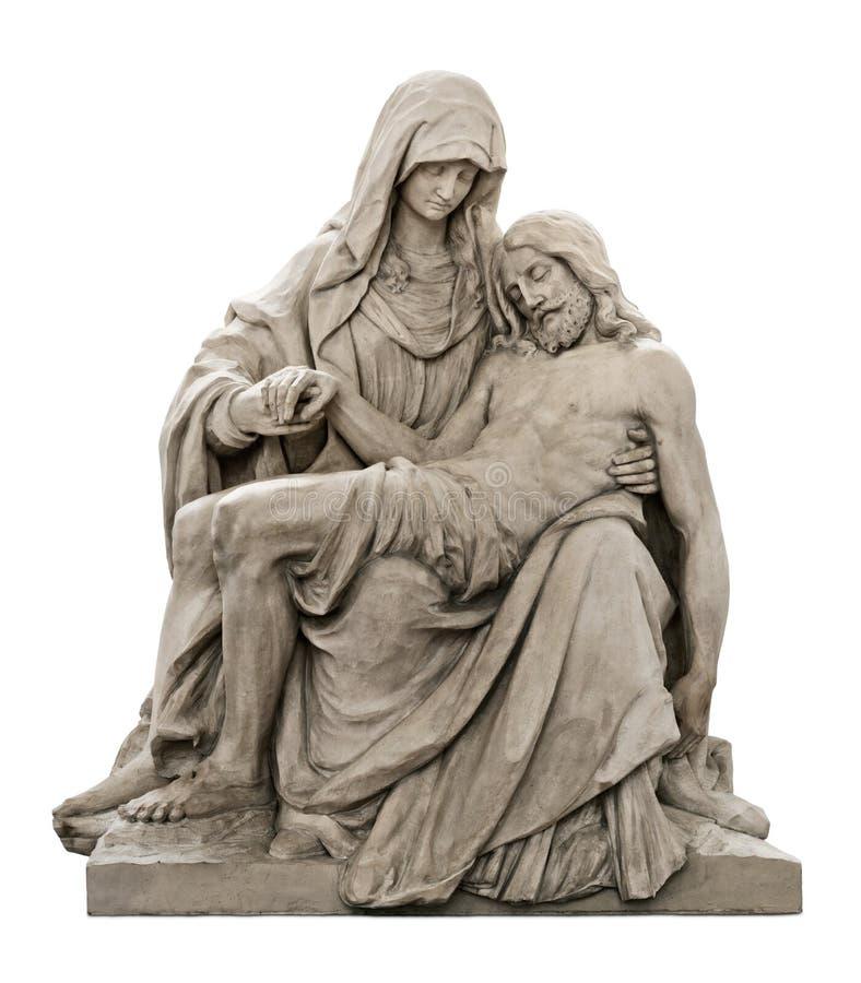 Standbeeld van Mary die voor Jesus-Christus rouwt royalty-vrije stock foto