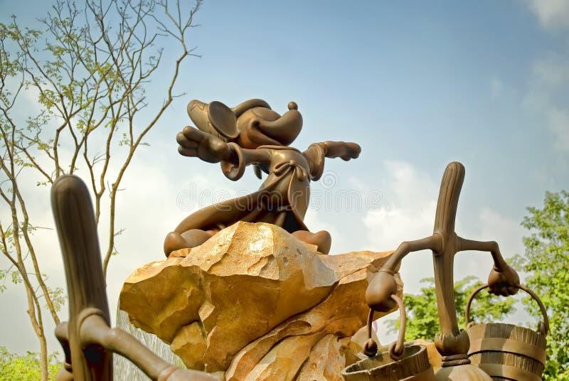 Standbeeld van Mickey Mouse, Hong Kong Disneyland stock foto