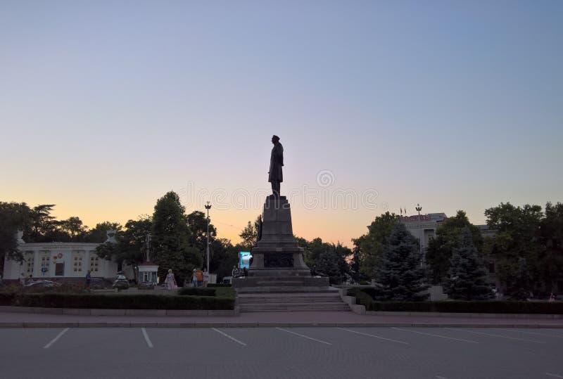 Standbeeld van Nahimov in Sebastopol stock afbeeldingen