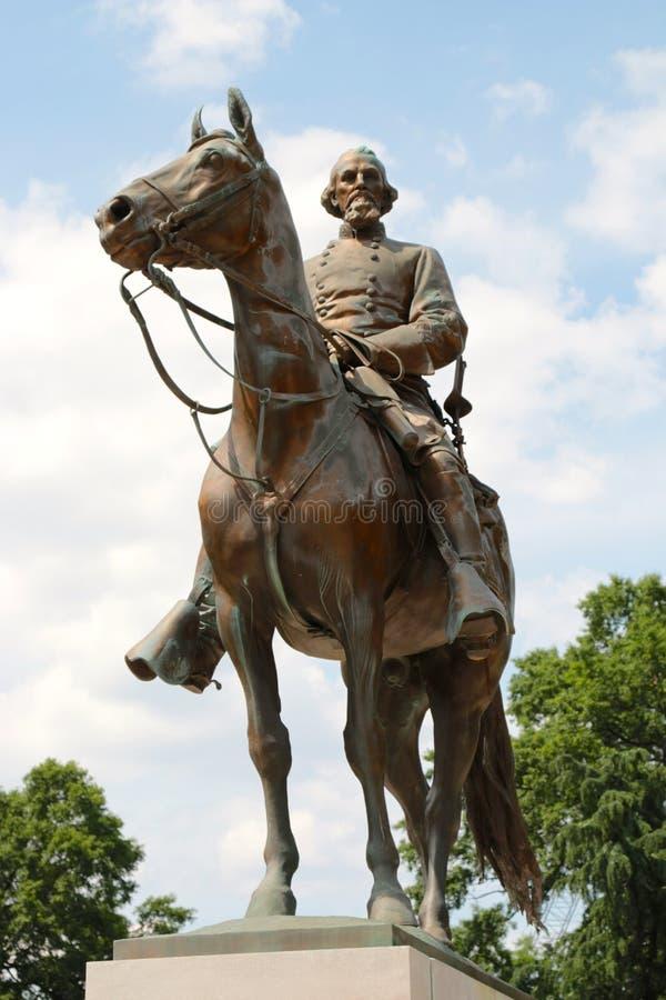 Standbeeld van Nathan Bedford Forrest boven op een Oorlogspaard, Memphis Tennessee royalty-vrije stock foto's