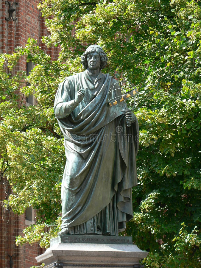 Standbeeld van Nicolas Copernicus royalty-vrije stock foto's