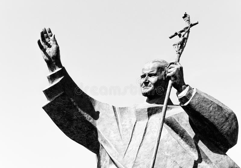 Standbeeld van Paus Johannes Paulus II; Dili, Oost-Timor royalty-vrije stock foto