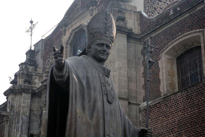 Standbeeld van Paus John Paul II stock afbeelding