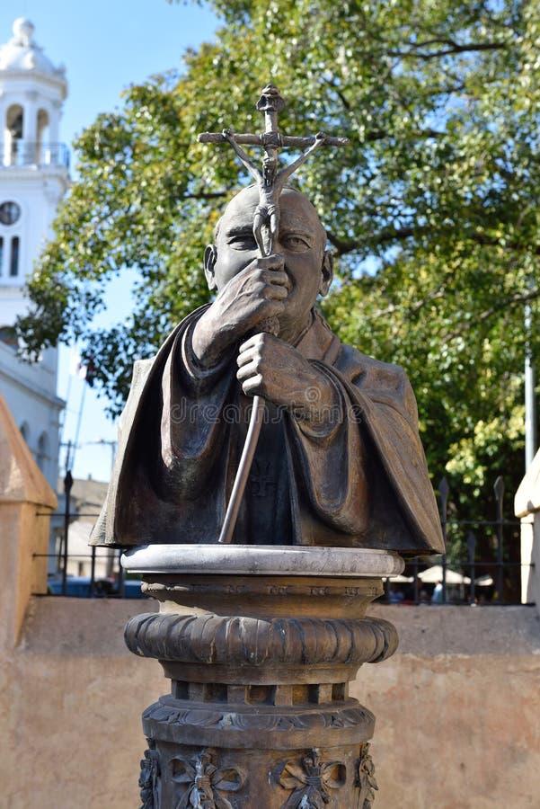 Standbeeld van Paus van Johannes Paulus II royalty-vrije stock foto's