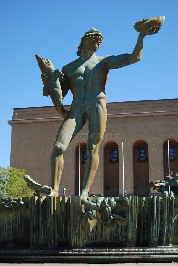 Standbeeld van Poseidon stock foto's