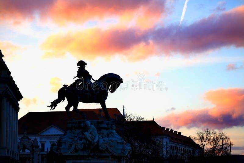 Standbeeld van Prins Eugene van Savooiekool royalty-vrije stock afbeelding