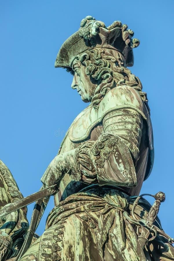 Standbeeld van Prins Eugene van Savooiekool voor Hofburg-Paleis in V royalty-vrije stock afbeeldingen