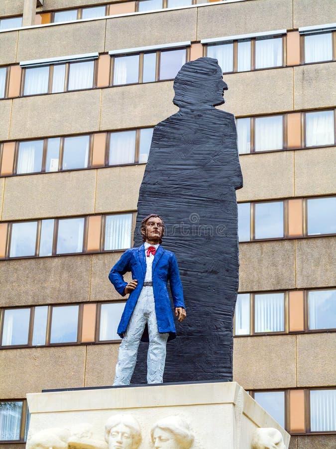 Standbeeld van Richard Wagner royalty-vrije stock foto