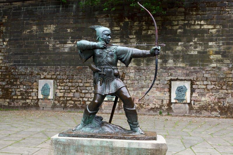 Standbeeld van Robin Hood royalty-vrije stock foto's