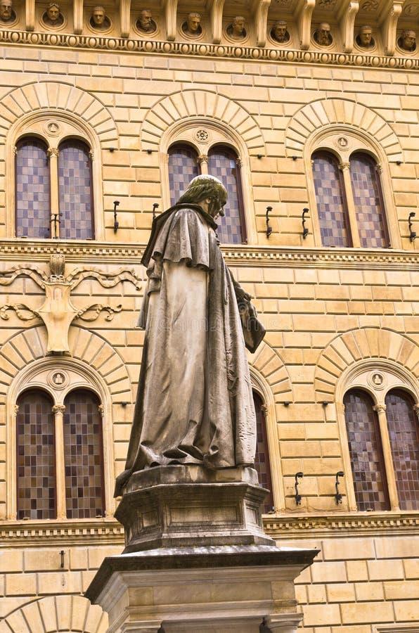 Standbeeld van Sallust Bandini in Salimbeni-vierkant, Siena, Toscanië royalty-vrije stock afbeelding