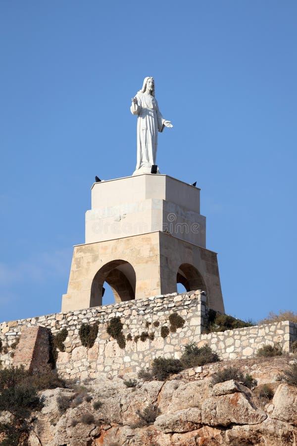 Standbeeld van San Cristobal in Almeria stock foto