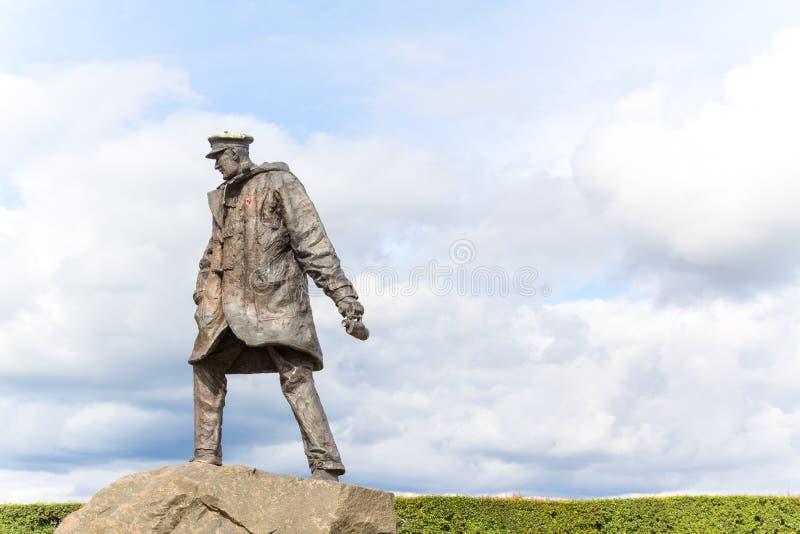 Standbeeld van Sir Archibald David Stirling, stichter van Brits S stock fotografie