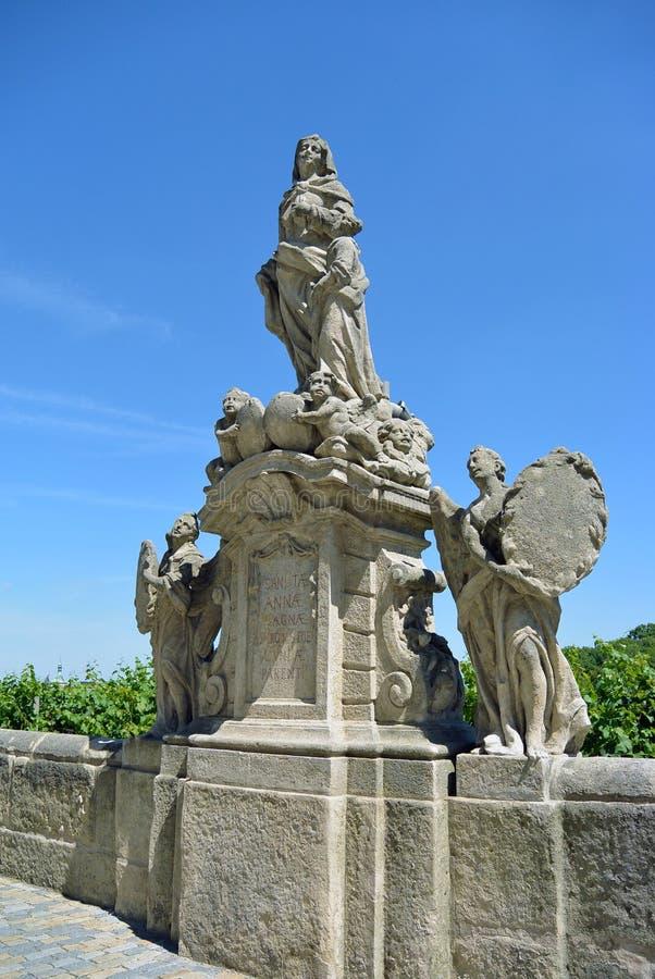 Standbeeld van St Anna in Kutna Hora, Tsjechische republiek royalty-vrije stock afbeeldingen