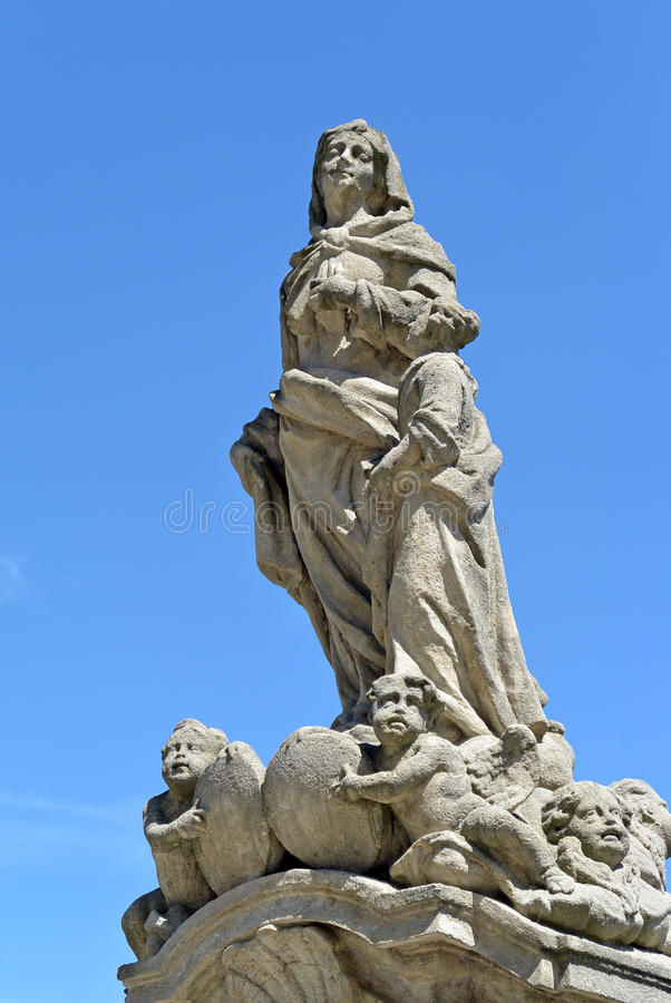 Standbeeld van St Anna in Kutna Hora, Tsjechische republiek royalty-vrije stock foto