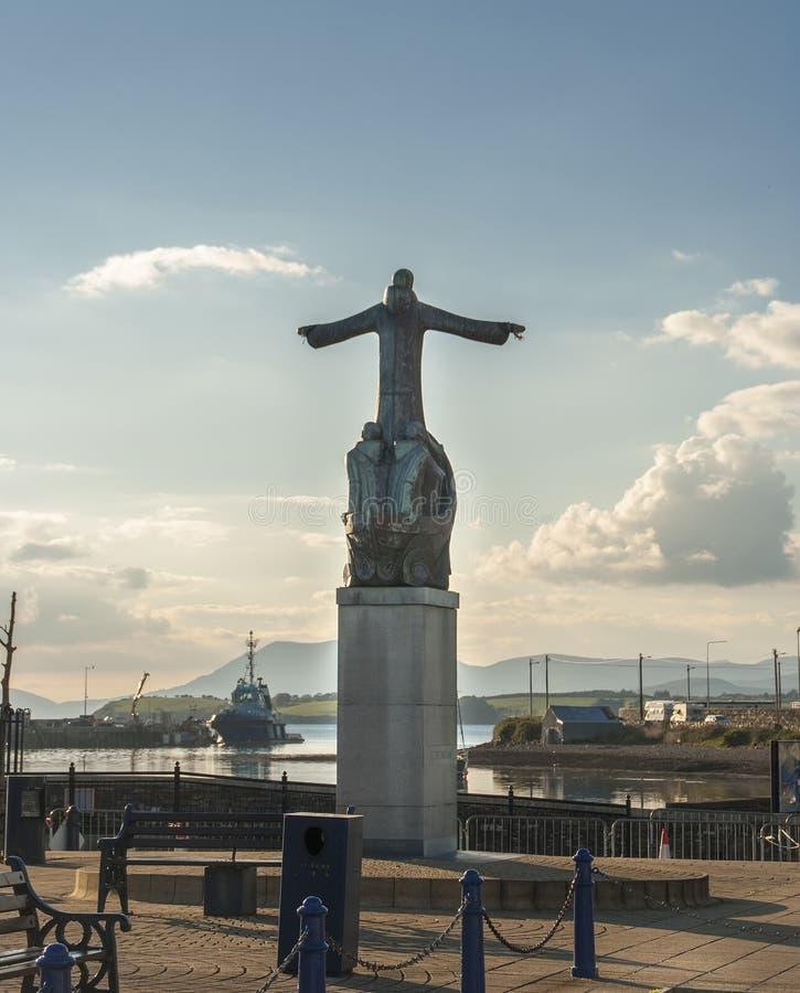 Standbeeld van St Brendan stock foto