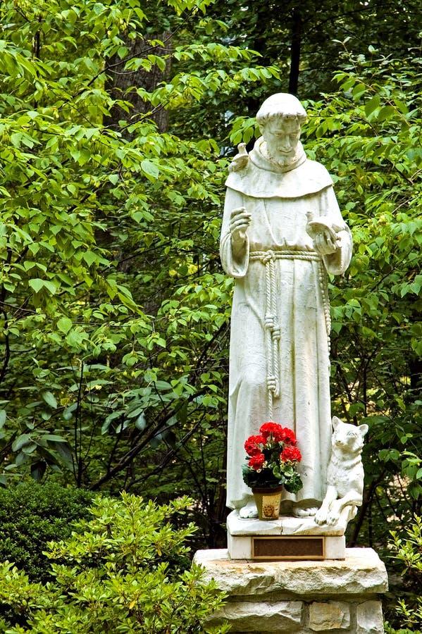 Standbeeld van St. Francis stock afbeelding