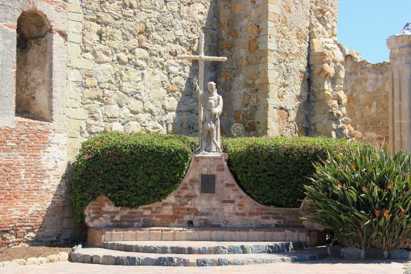 Standbeeld van Vader Junipero Serra royalty-vrije stock afbeelding