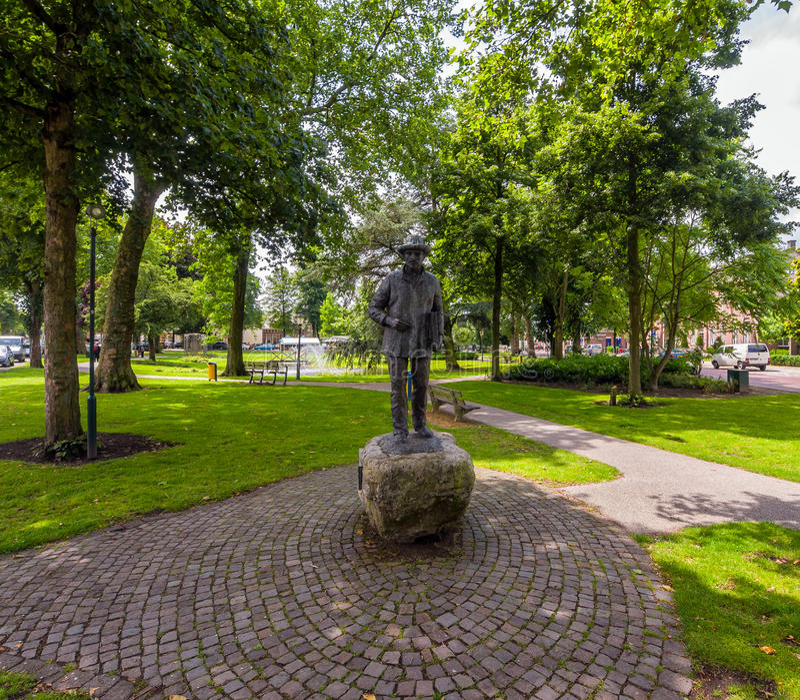 Standbeeld van Vincent van Gogh in Nuenen royalty-vrije stock foto's