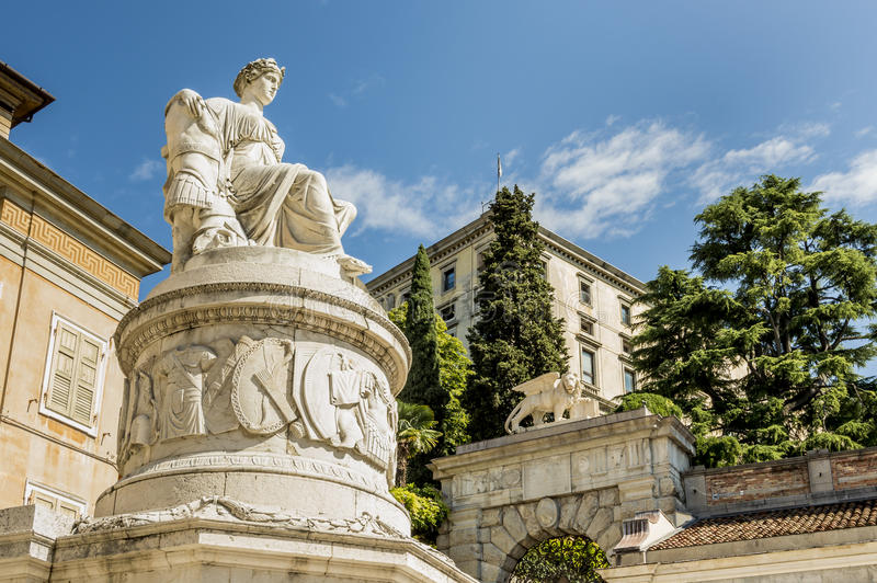 Standbeeld van Vrede Udine, Friuli, Italië stock foto's