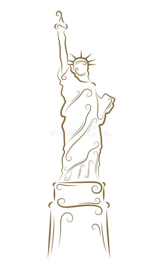 Standbeeld van Vrijheid stock illustratie