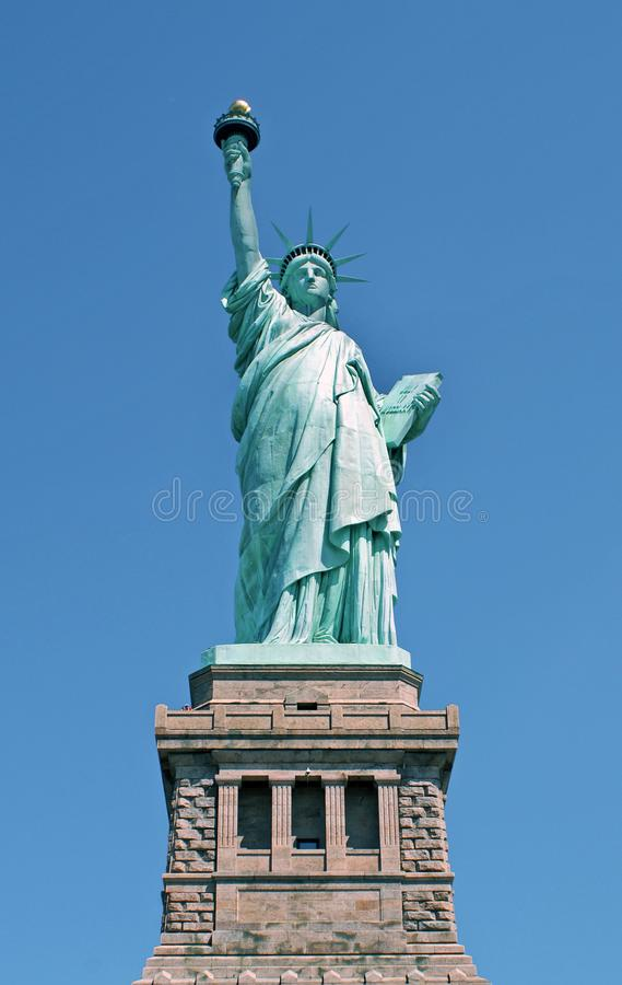 Standbeeld van Vrijheid in de Stad van New York stock fotografie