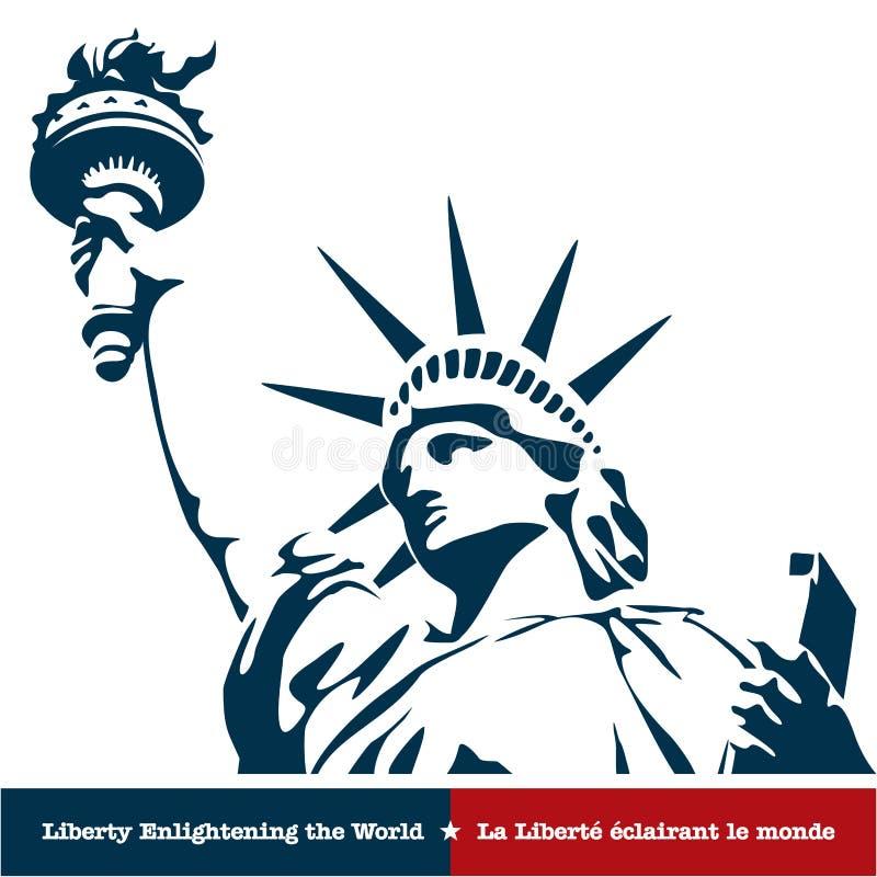 Standbeeld van Vrijheid. De V.S. royalty-vrije illustratie