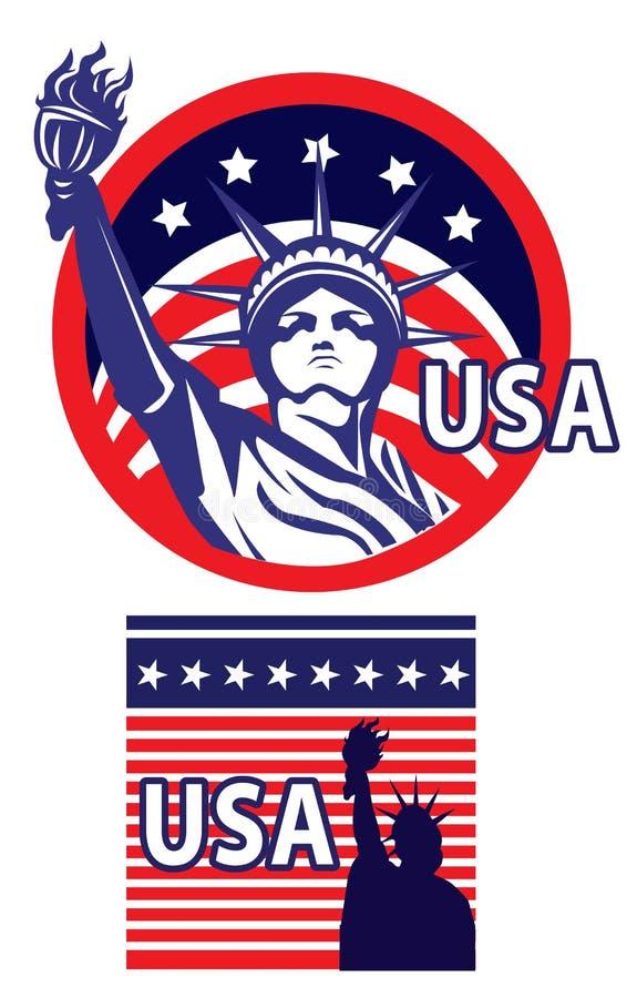 Standbeeld van vrijheid de V.S. vector illustratie