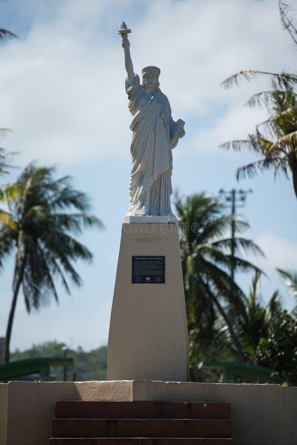 Standbeeld van Vrijheid, Guam, Hagatca, Agana stock foto's