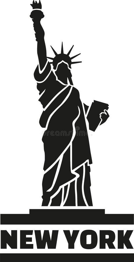 Standbeeld van Vrijheid New York royalty-vrije illustratie