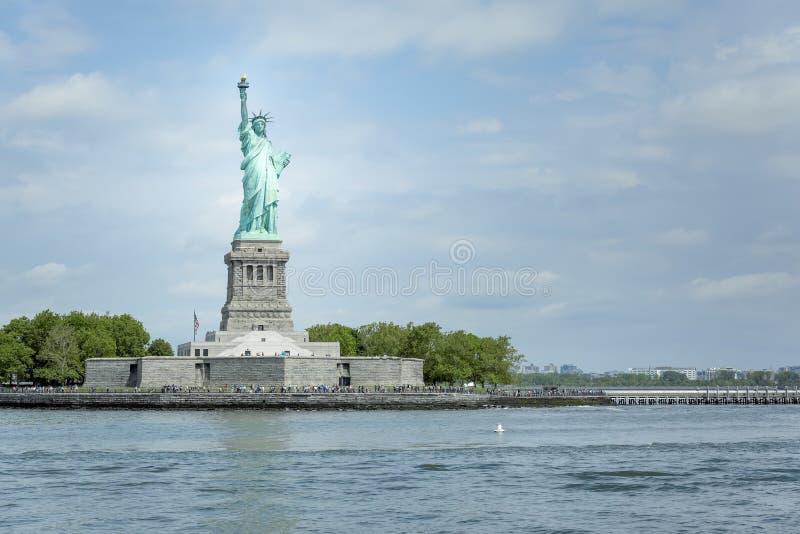 Standbeeld van Vrijheid in New York stock foto