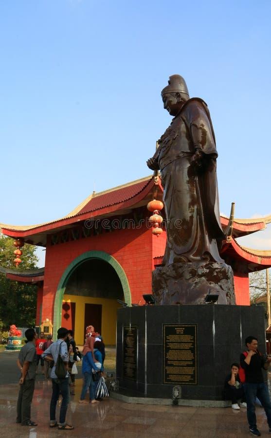 Standbeeld van Zheng He stock afbeeldingen