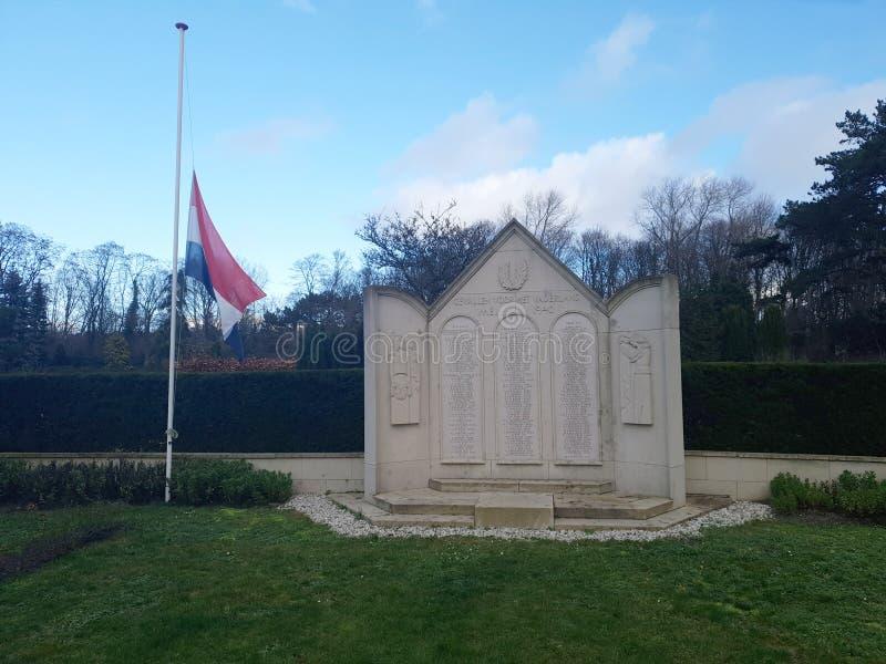 Standbeeld voor militairen gevallen bij de slag van Den Haag The Hague tijdens wereldoorlog 2 royalty-vrije stock fotografie