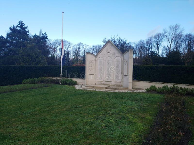 Standbeeld voor militairen gevallen bij de slag van Den Haag The Hague tijdens wereldoorlog 2 royalty-vrije stock afbeeldingen