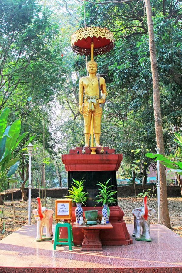 Standbeeld in Wat Umong, Chiang Mai, Thailand stock foto's