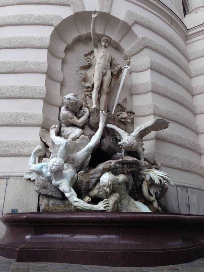Standbeeld in Wenen stock foto