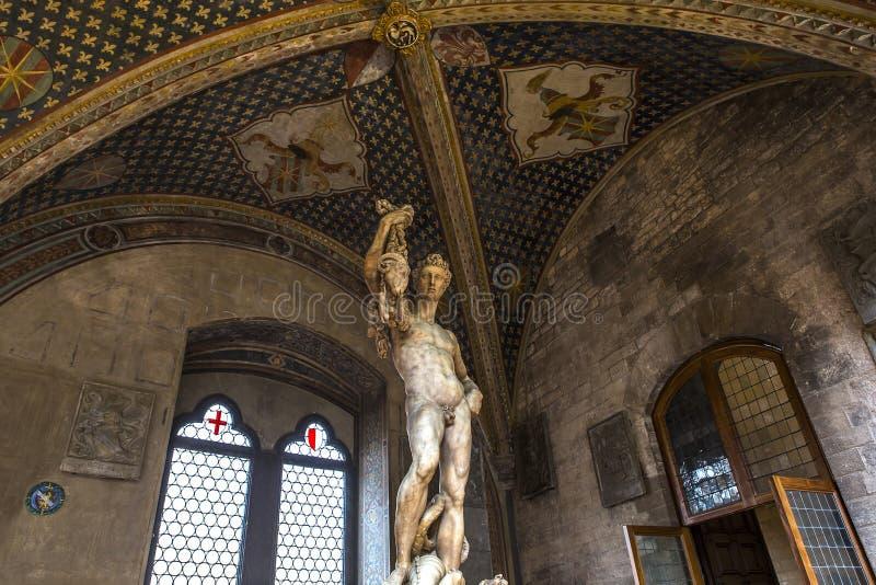 Standbeelden in Bargello, Florence, Italië stock foto