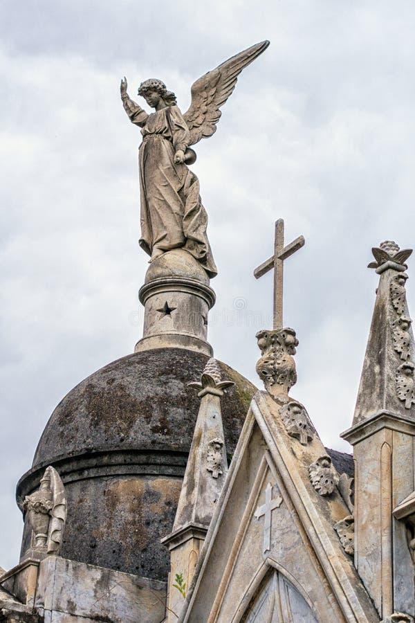 Standbeelden in de begraafplaats van La Recolta royalty-vrije stock foto