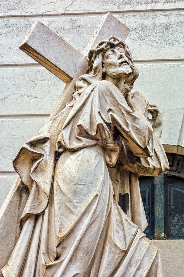 Standbeelden in de begraafplaats van La Recolta royalty-vrije stock afbeeldingen