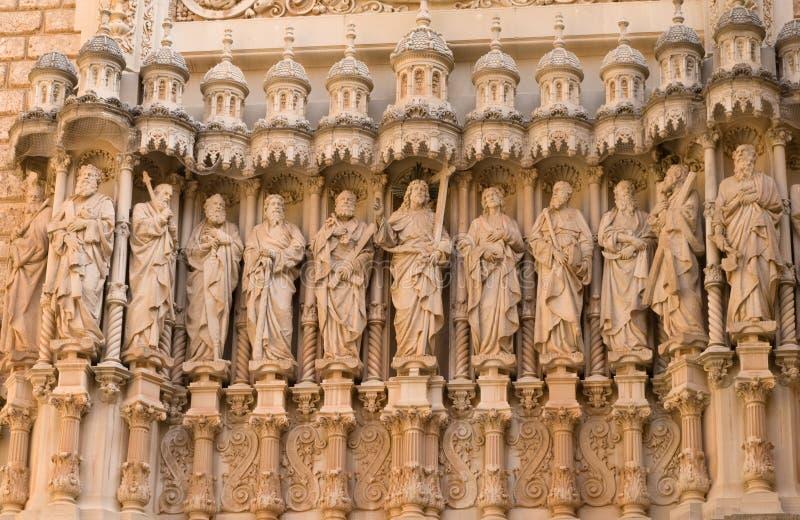 Standbeelden van de Twaalf Apostelen stock foto's