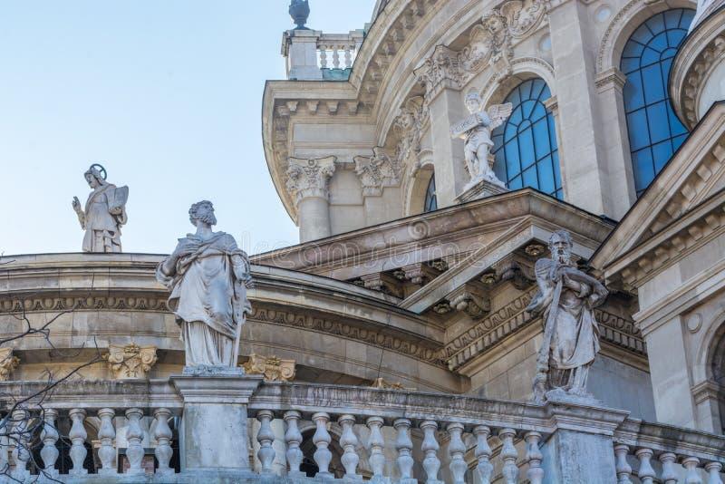Standbeelden van grote actoren in Boedapest royalty-vrije stock afbeelding