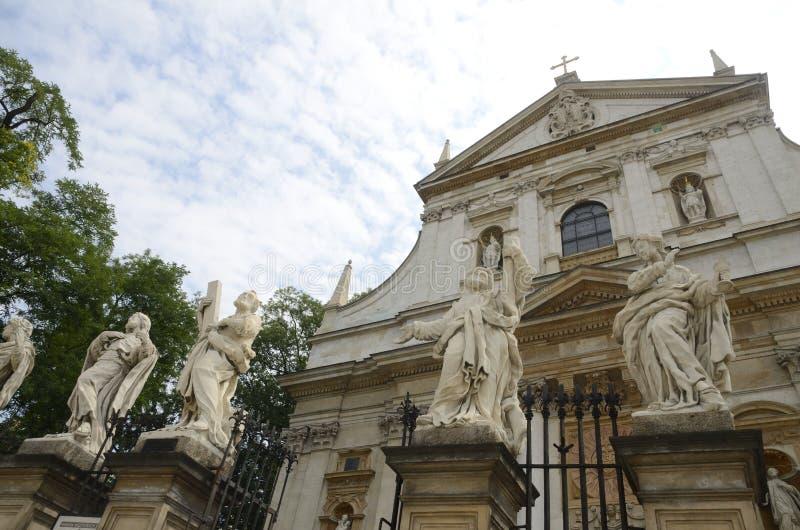Standbeelden van heiligen voor kerk royalty-vrije stock afbeeldingen