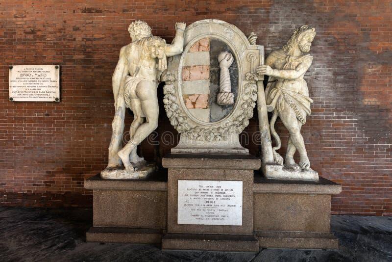 Standbeelden van Hercules bij Loggiadei Militi royalty-vrije stock afbeelding