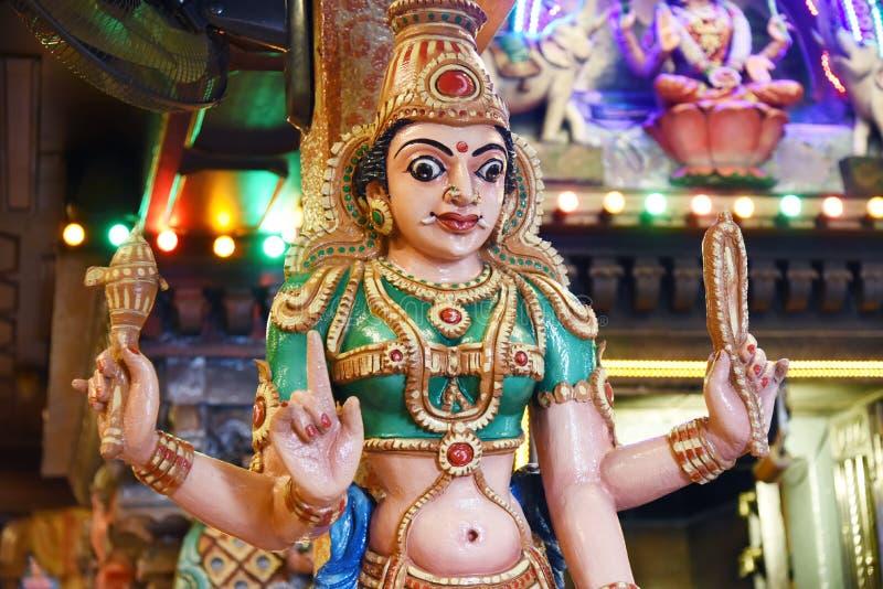 Standbeelden van Hindoese goden stock foto