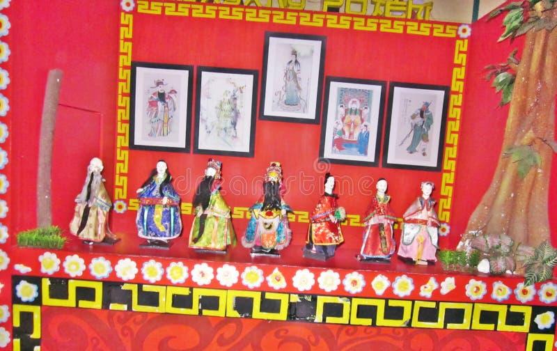 Standbeeldviering van Chinese god stock fotografie